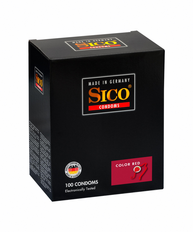 100 SICO Kondome verschiedene Sorten, Größen sowie Farbe & Aroma Markenkondome 100 SICO Erdbeer Aroma Kondome