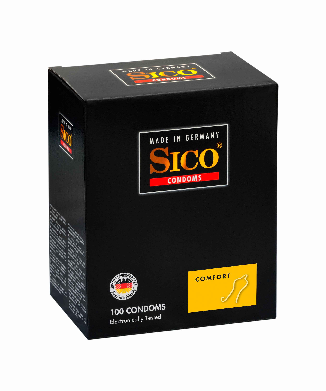 100 SICO Kondome verschiedene Sorten, Größen sowie Farbe & Aroma Markenkondome 100 Sico Comfort Kondome