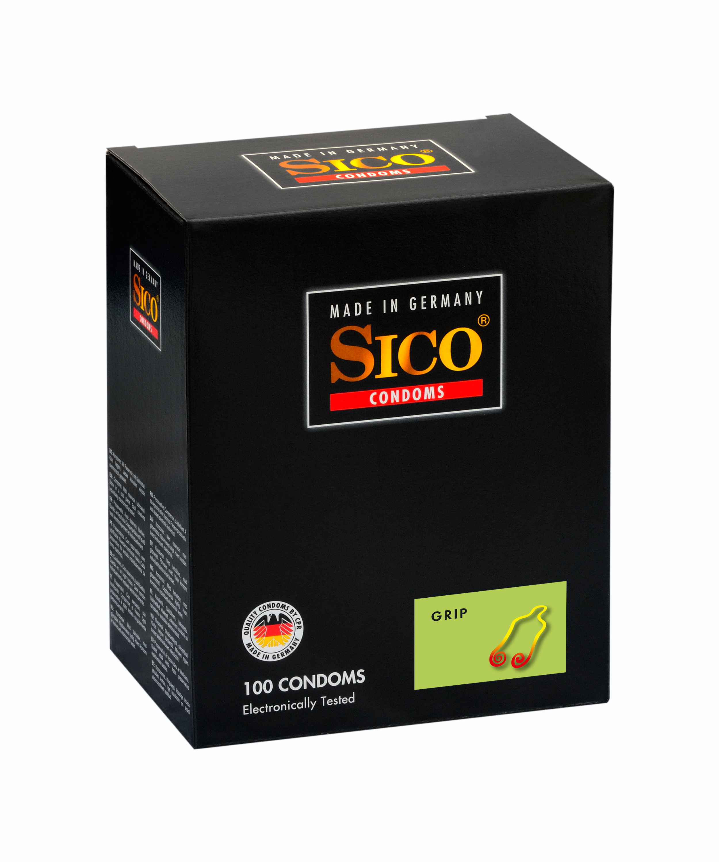 100 SICO Kondome verschiedene Sorten, Größen sowie Farbe & Aroma Markenkondome 100 SICO Grip Kondome