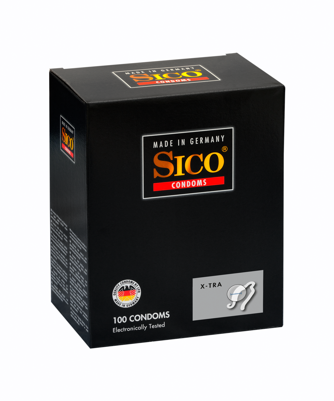 100 SICO Kondome verschiedene Sorten, Größen sowie Farbe & Aroma Markenkondome 100 SICO XTRA Kondome