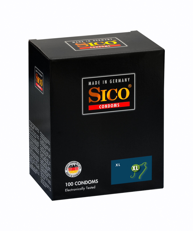 100 SICO Kondome verschiedene Sorten, Größen sowie Farbe & Aroma Markenkondome 100 SICO XL Kondome 54mm